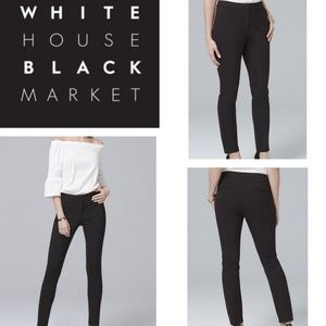 WHBM Black Stretch Skinny Curvy Ankle Pant